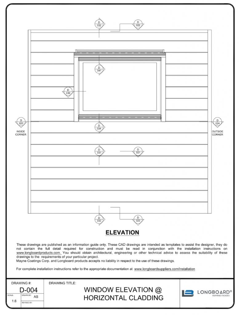 D-004 Window Elevation