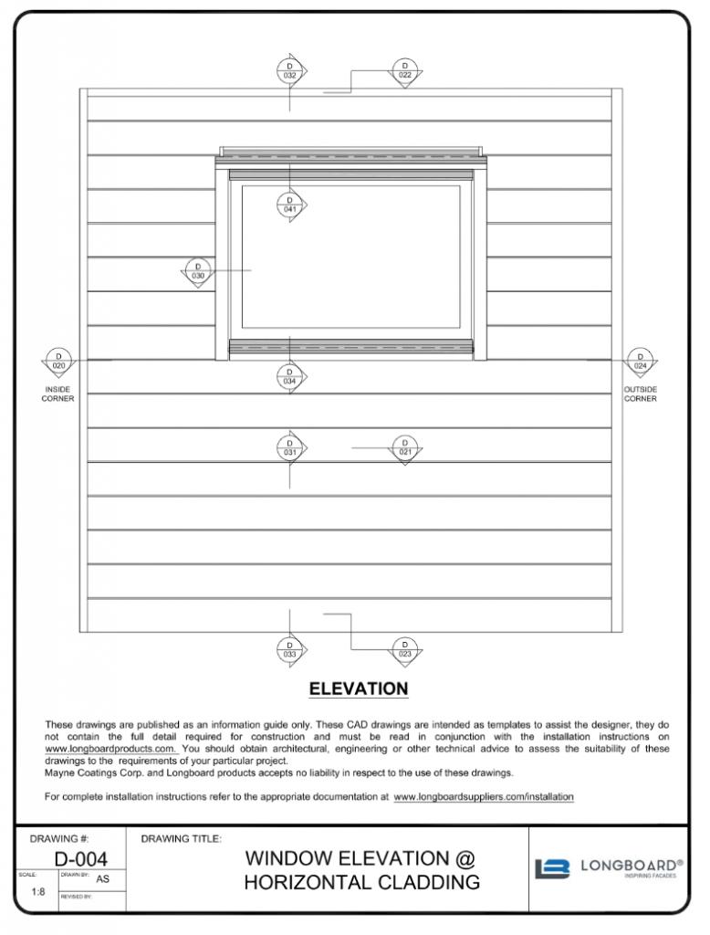 D-004 Window Elevation Horizontal