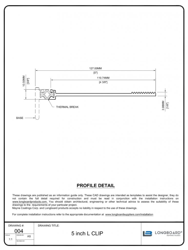 D-004a 5 inch clip