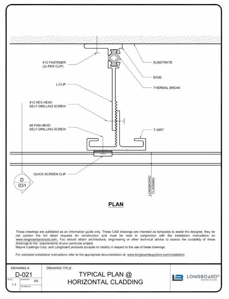 D-021 Typical Plan Horizontal