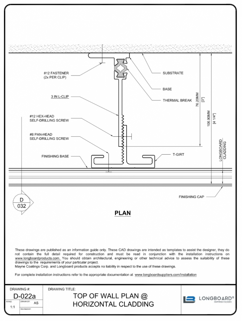 D-022a Top of Wall Horizontal