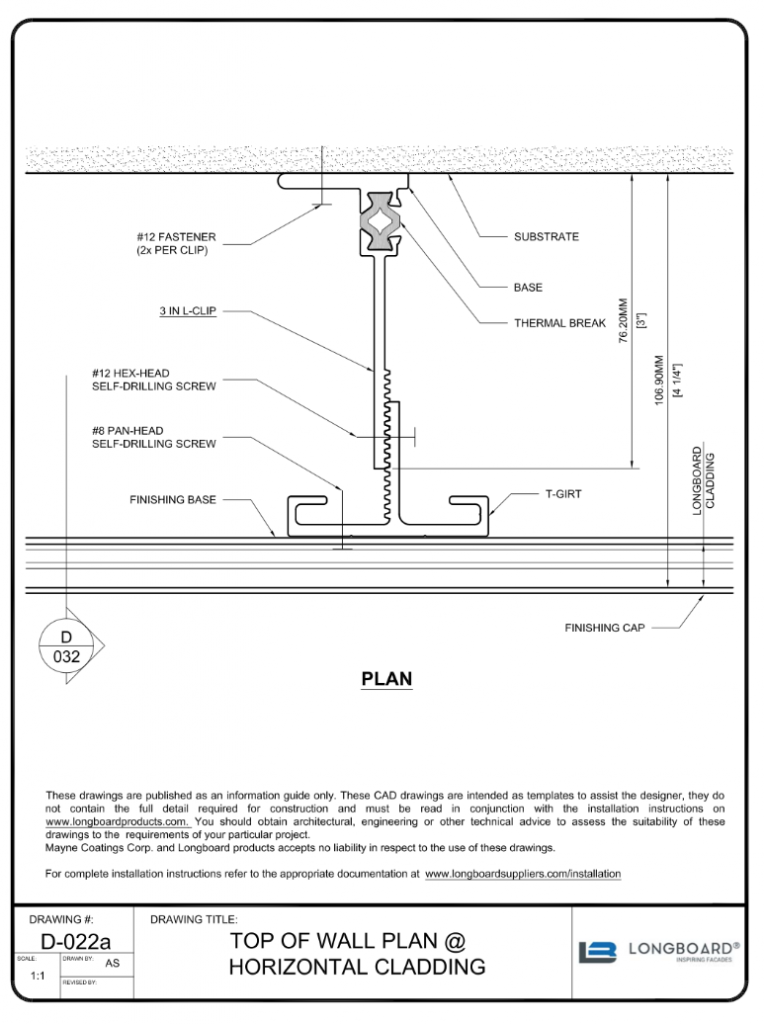 D-022a Top of Wall Plan