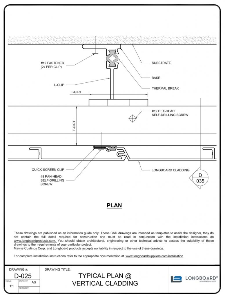 D-025 Typical Plan Vertical
