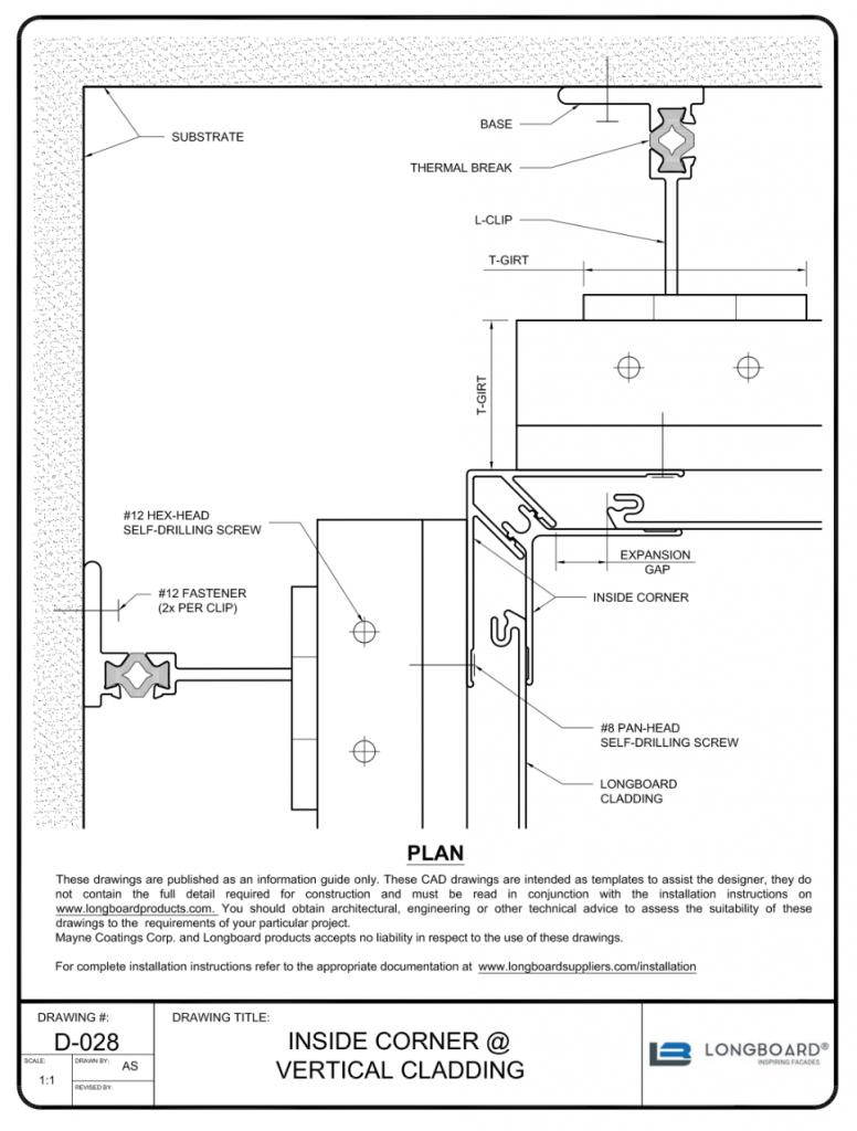 D-028 Inside Corner Vertical