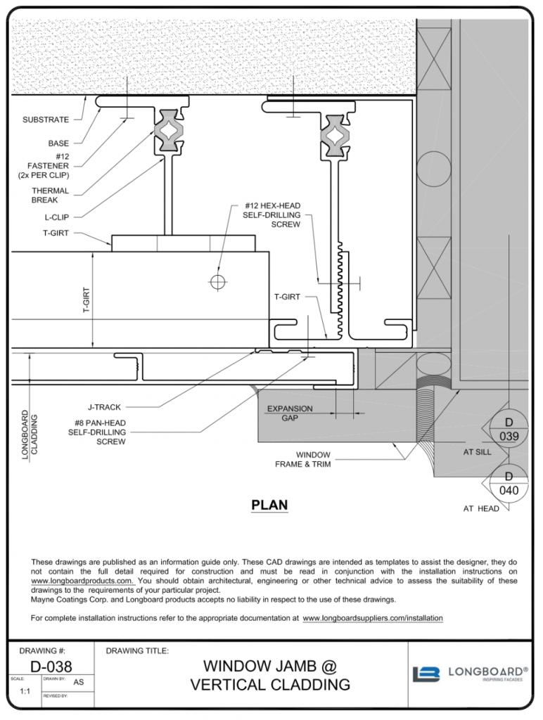 D-038 Window Jamb Vertical