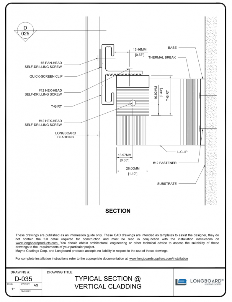 D-038 typical Section Vertical