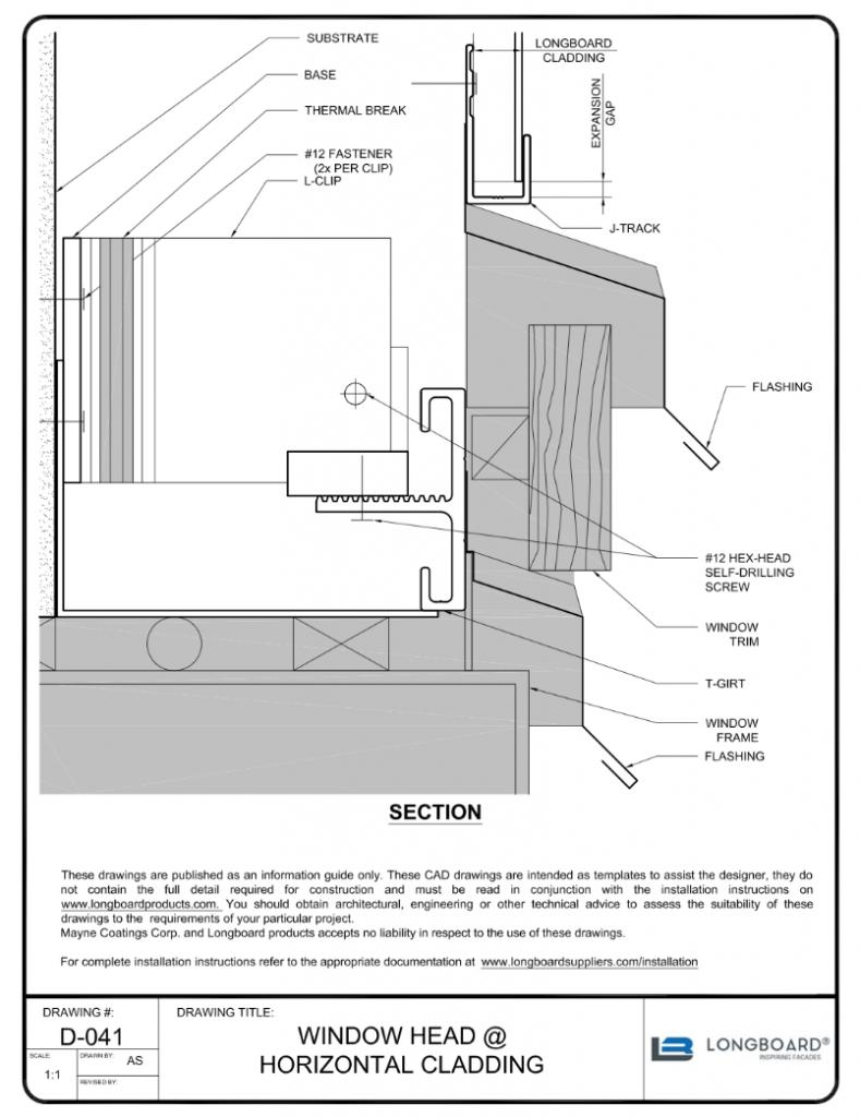 D-041 Window Head Horizontal