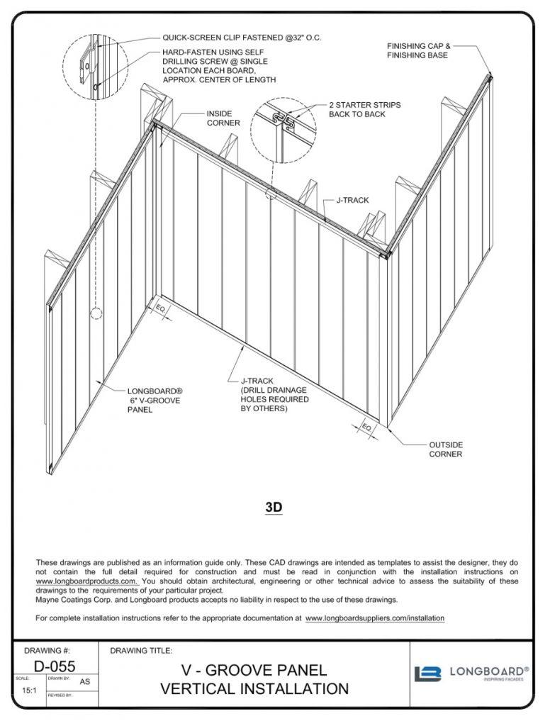 D-055 V Groove Panel Vertical Install