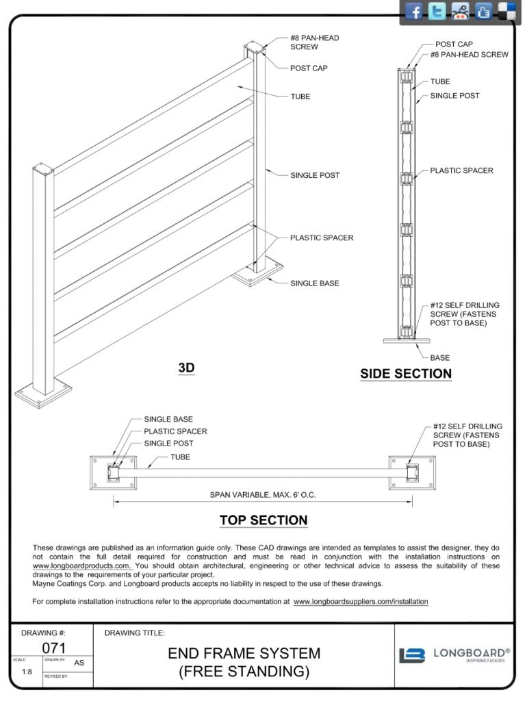 D-071 End Frame System