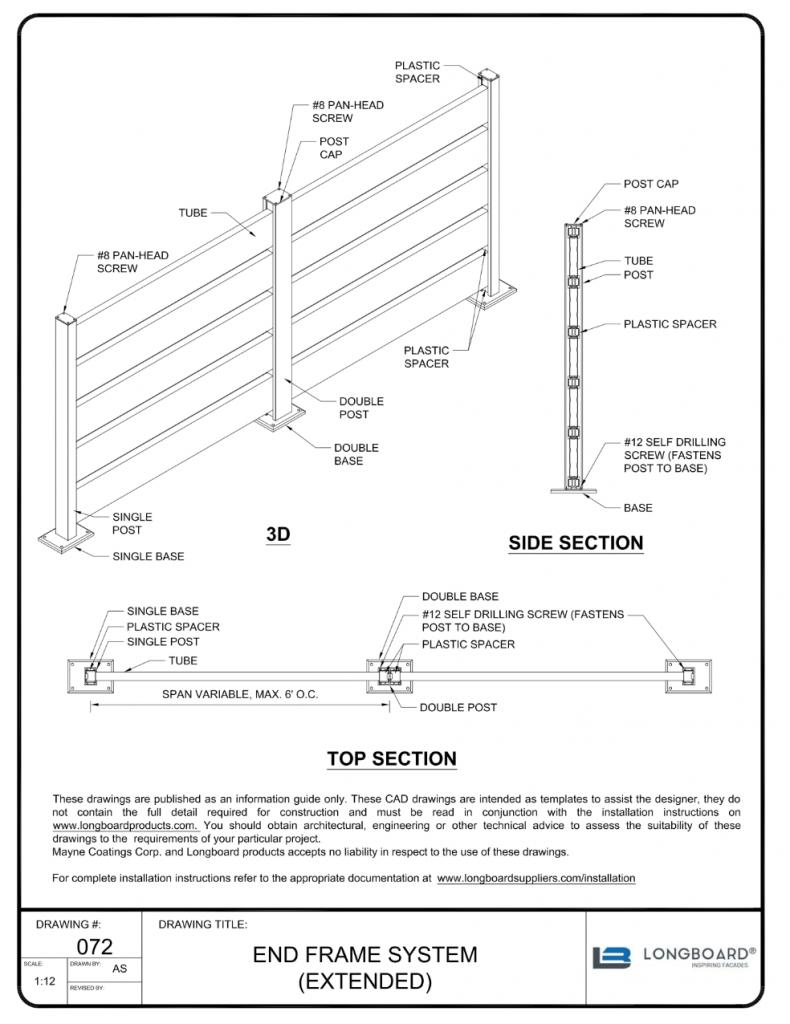 D-072 End Frame System Extended