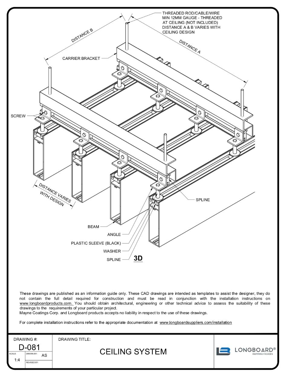 D-081 Ceiling System 3D