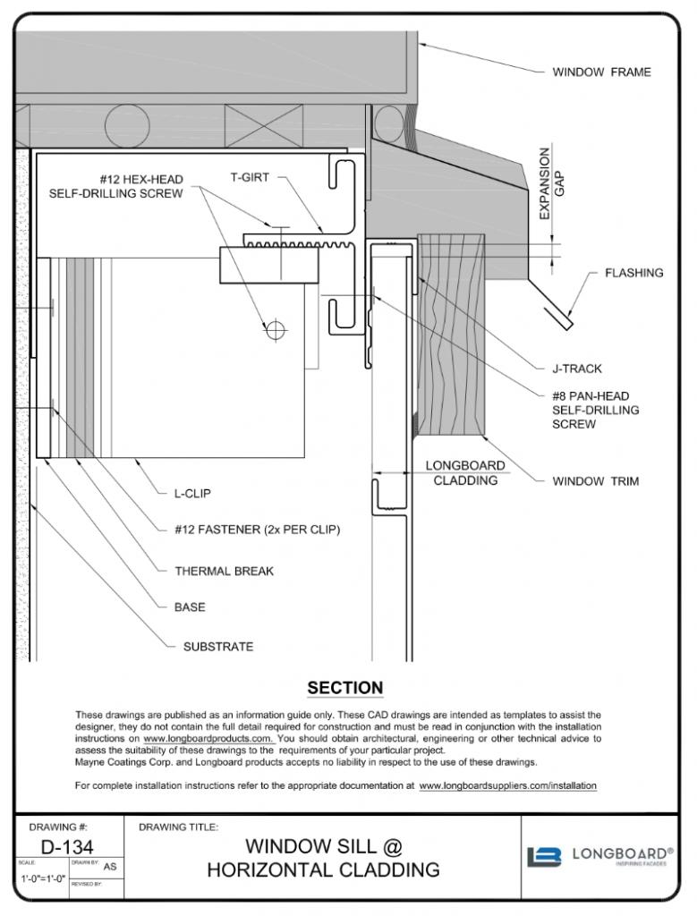 D-134 Window Sill Horizontal