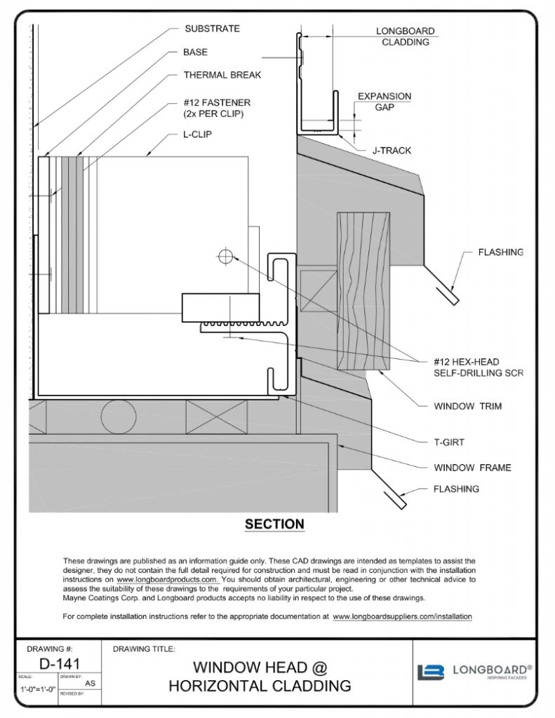 D-141 Window Head Horizontal