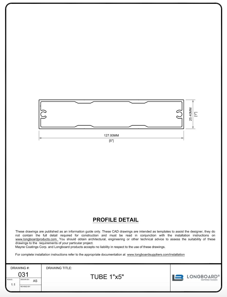 Privacy Screen Tube 1X5